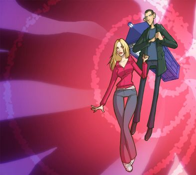 Ninth Doctor and Rose by martinacecilia