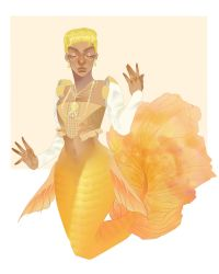 Coco the Yellow Princess of the South Pacific by pinkiecitrine
