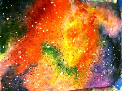 Watercolor Galaxy 2 by NomNomSkittles
