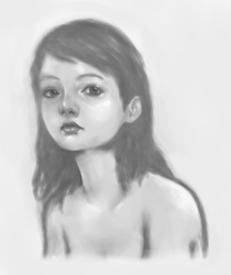 Portrait sketch wip 02 by absent-instant