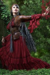 Wild Winds Outfit, Hair and Poses 4 by crenderIT
