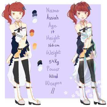 [OC reference] Assiah by Munnaby