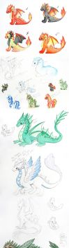 Elemental Concepts by DragonsAndBeasties