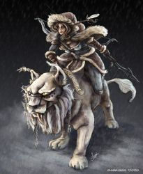 The Northern Rider Awilix - Skin concept by Lu0ren