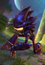 Mecha Sonic by yoshiyaki