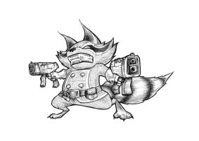 Rocket Raccoon by Henderzon