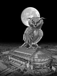 Giant horned owl by taisteng