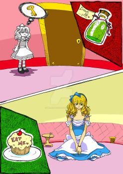 Little or Big? - Alice In Wonderland Series by melon-banzai