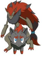 Zorua and Zoroark by Beagleboy4ever