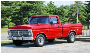 A Red Ford F-100 by TheMan268