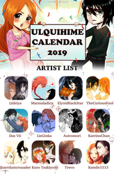 Ulquihime Calendar 2019 by ksmile1313