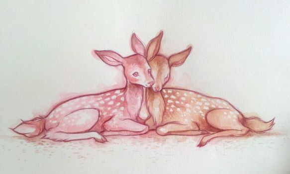 Double Deer by lindsaycampbell