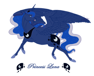 Realistic Princess Luna by VanyCat