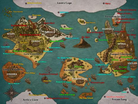DnD 5e Adventures of Existence WORLD MAP by EpicsofNoche