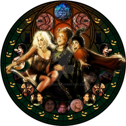 Sanderson Sisters stained glas by jeorje90