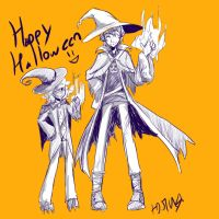Seto And Unity - Halloween by MotherofOnity