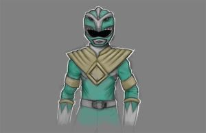 Green Power Ranger sketch by Paterack