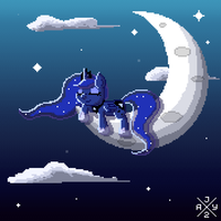 Animation - Sleeping Pixel Luna by auro-ria