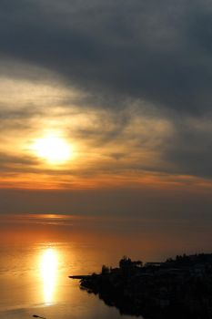 Sunset over Montreux by Cicciobello-BoBo