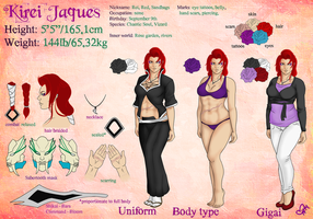 Kirei Jaques - Reference Sheet by InkieRose
