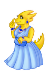Alphys in a prom dress by Mati0la