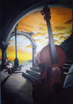 The Cellist by axlefung