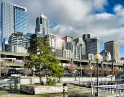 A Two Point Perspective on Seattle by arnaudperret