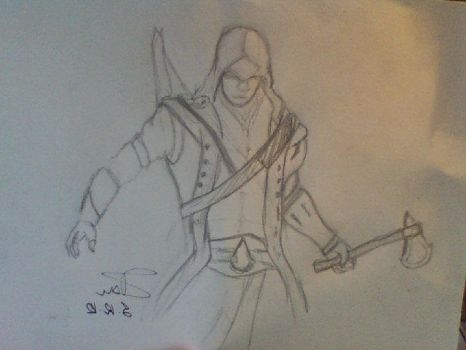 Assassin's creed sketch by LitografyAndMore