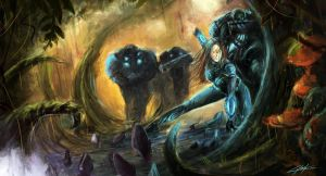 Starcraft 2 Heart of the Swarm jungle by VitoSs