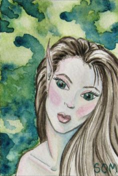 Forest Elf ACEO by SOM-Sharina