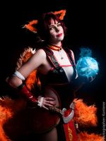 Foxfire Ahri / League of Legends by ThanatosArts