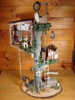 Miniature Treehouse 1:12 Scale by MiniatureMadness