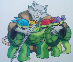 Father's Day TMNT by claudiopaola007