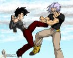 Celari vs. Trunks 2 by Rider4Z