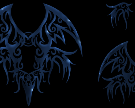 Tribal Wings Brushes by Oceannist