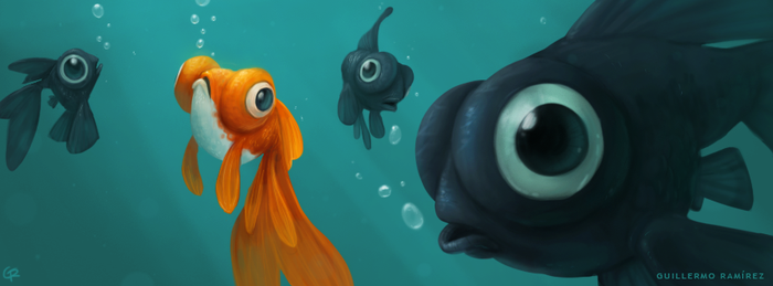 Gold fish by GuillermoRamirez