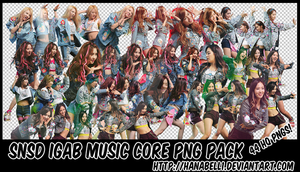 SNSD IGAB Music Core PNG Pack by HanaBell1