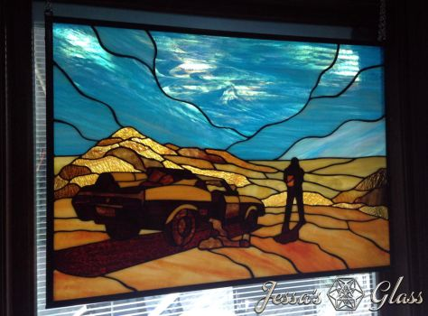 Mad-Max-What-A-Lovely-Day-Stained-Glass-Window-Sun by JessasGlass