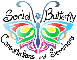 Commission - Social Butterfly Logo by Blue-Paint-Sea