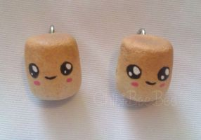 Toasted Marshmallow Charms by ChibiBeeBee
