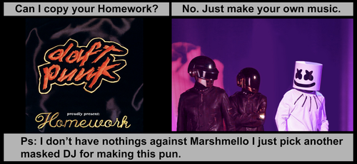 Can I copy your ''HOMEWORK''? by DrawingSonicLikeYeah