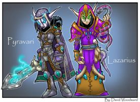 Commission: Wow Elves by badgerlordstudios
