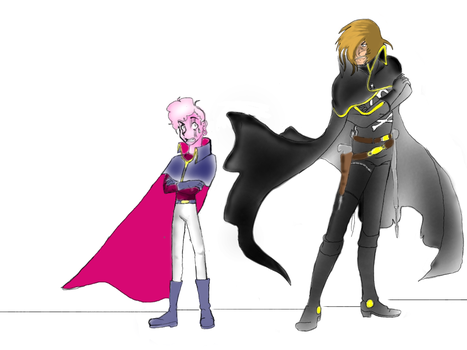 The complete art work of Lars and captain harlock by anime1999