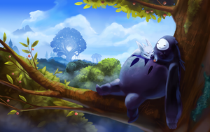 Ori and The Blind Forest Fanart - Lazy Day by LizaKox