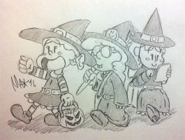 Witch Squad (original sketch) by megawackymax