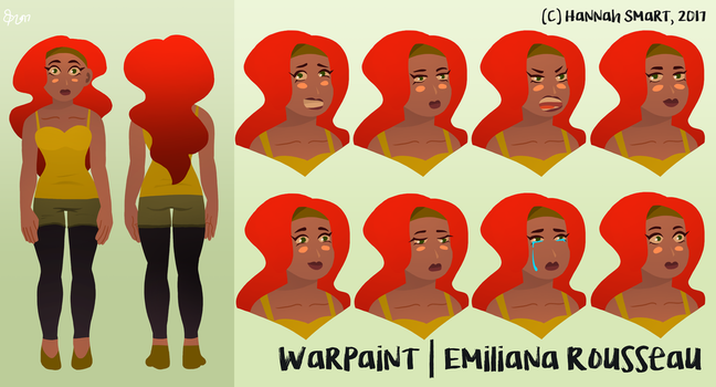 Warpaint Facial Reference by SunflowerDaemon