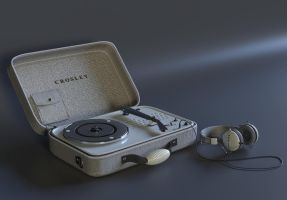 Crosley turntable by Ozzik-3d