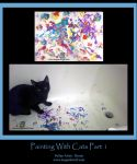 Painting With Cats Part 1 by leopardwolf