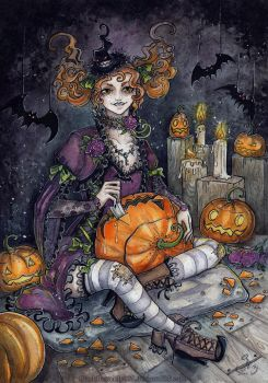 Carving Pumpkins by Si3art