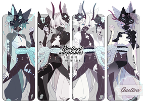[closed]|Adoptables Auction|KitsunemaskBatch by Rhe-Adopts